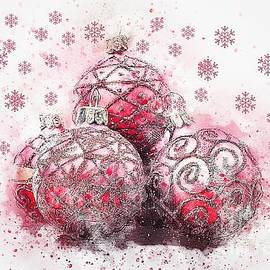 Christmas Baubles by Sharon Patterson