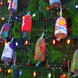 Christmas Buoys by Joann Vitali