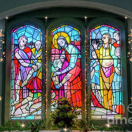 Christmas Church Window by Ian Mitchell