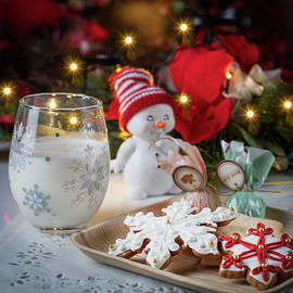 Christmas Cookies and a Little Snowman Art Photo by Lily Malor