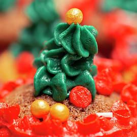 Christmas Decorated Mini Cupcakes by Rob Downer