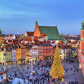 Christmas Evening In City Of Warsaw by Artur Bogacki