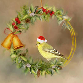 Christmas Goldfinch by Donna Kennedy