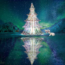 Christmas Ice Tree Monolith by Michele Avanti