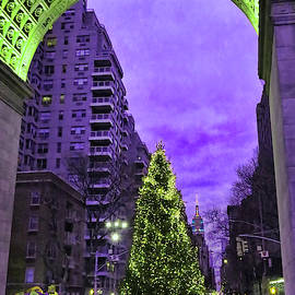 Christmas in the City 15 - Washington Square Park by Allen Beatty