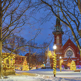 Christmas Lights at the Natick Center Historic District and Natick Common Town Center by Juergen Roth