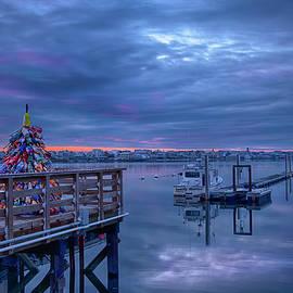 Christmas on the Pier - Wells, Maine by Joann Vitali