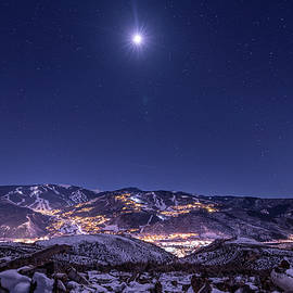 Christmas Star over Avon, CO by Ben Ford