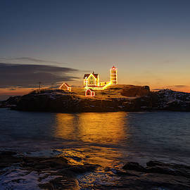 Christmas Time At Nubble by Mark Papke