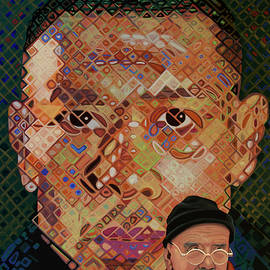 Chuck Close Painting by Paul Meijering