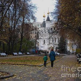 Church of Archangel Michael in Autumn 1 by Anna Yurasovsky