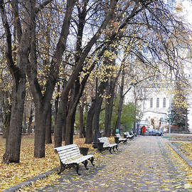 Church of Archangel Michael in Autumn 10 by Anna Yurasovsky