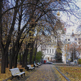 Church of Archangel Michael in Autumn 8 by Anna Yurasovsky