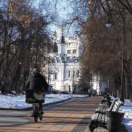 Church of Archangel Michael in Winter 3 by Anna Yurasovsky
