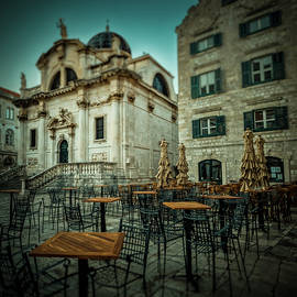 Church of St Blaise, Cafe exterior and Stradun street by Silvijo Selman