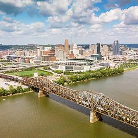 Cincinnati downtown skyline by Alexey Stiop