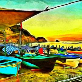 Cinque Terre Colorful Boats by Sea Change Vibes