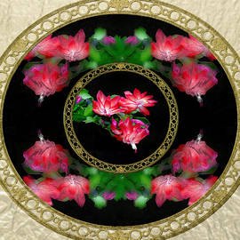 Circular Flowers Squared  by Constance Lowery