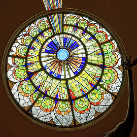 Circular Stained Glass Window by Sally Weigand