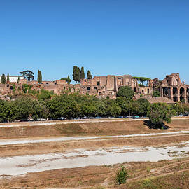 Circus Maximus and Palatine Hill in Rome by Artur Bogacki