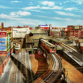 City - Boston MA - Dudley Street Station 1904 by Mike Savad