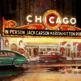 City - Chicago IL -  Chicago's finest entertainment 1949 by Mike Savad