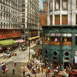 City - Chicago IL - Hustle and Bustle 1907 by Mike Savad