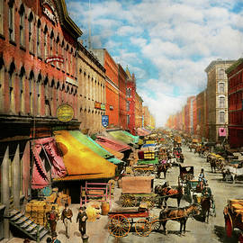 City - Chicago IL - The original South Water Market 1893 by Mike Savad