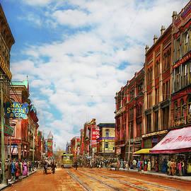 City - Kansas City MO - History on Main Street 1906 by Mike Savad