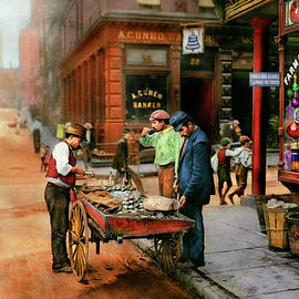 City - Little Italy NY - Mussel Man 1900 by Mike Savad