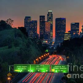 City of Angels Sunset Silhouette by David Zanzinger