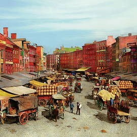 City - Philadelphia PA - The market on Dock St 1908 by Mike Savad