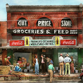 City - San Augustine TX - Farmers Exchange 1939 by Mike Savad
