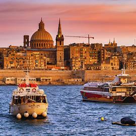 City Skyline of Valletta at Sunset in Malta by Artur Bogacki