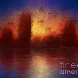 Cityscape Abstract Painting  by Enara Grace