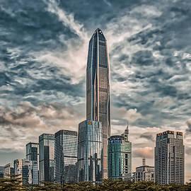 Cityscape Shenzhen art version by Vlad Meytin