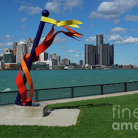 Claim Post and Detroit View by Jane Tomlin