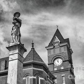 Clark County Courthouse Arkadelphia - BW by Scott Pellegrin