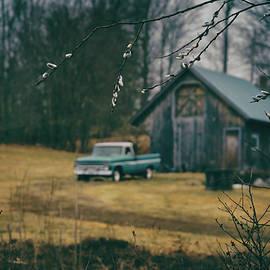 Classic Chevy Pickup on the Farm by Joann Vitali