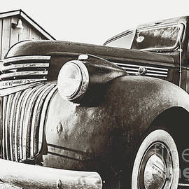 Classic Chevy Truck - sepia  by Scott Pellegrin