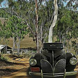 Classic Lincoln Zephyr Convertible Coupe 1940s Homestead Entry by Joan Stratton