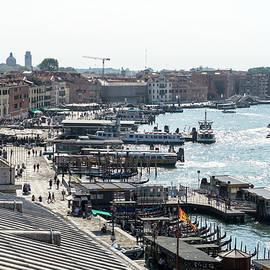 Classic Venetian - Busy St Marks Basin and Riva degli Schiavoni Waterfront Promenade by Georgia Mizuleva