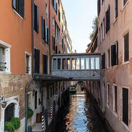 Classic Venetian - Elegant Covered Bridge and Canalside Palazzo Entrance  by Georgia Mizuleva