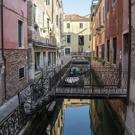 Classic Venetian - Elegant Wrought Iron Bridges and Banisters on Fondamenta Rimedio by Georgia Mizuleva
