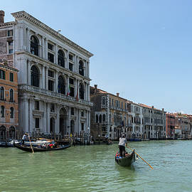 Classic Venetian Journey - Gondolas and Palaces on Canalazzo the Grand Canal by Georgia Mizuleva