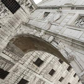 Classic Venetian - Up Close and Personal the Bridge of Sighs Ponte dei Sospiri - Dutch Angle by Georgia Mizuleva