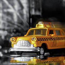 Classic Yellow NYC Cab Selective Color  by Carol Japp