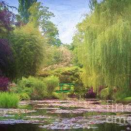 Claude Monet's Waterlily Pond, Giverny, France, Painterly by Liesl Walsh