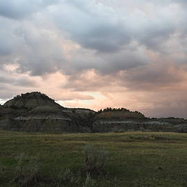 Clay Buttes and Stormy Skies by Amanda R Wright
