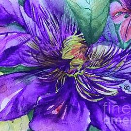 Clematis HeArt by Laurel Adams